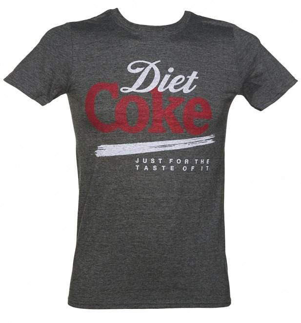 Men's Diet Coke Just For The Taste Of It Dark Grey T-Shirt