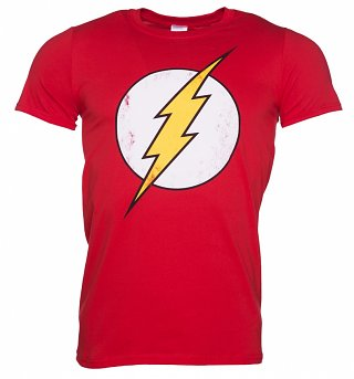 Men's Distressed DC Comics Flash Logo T-Shirt