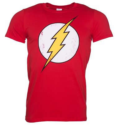Distressed DC Comics Flash Logo Herren T-Shirt