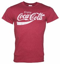 Men's Red Marl Enjoy Coca-Cola T-Shirt