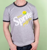 Men's Enjoy Sprite Grey And Charcoal Ringer T-Shirt