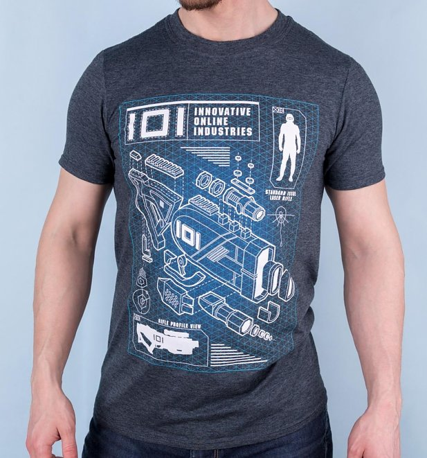 Men's Exclusive Ready Player One Rifle Profile T-Shirt