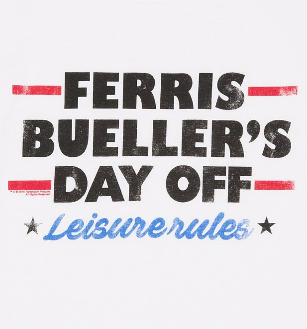 Men's Ferris Bueller Leisure Rules T-Shirt