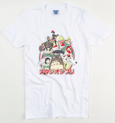 Men's Ghibli Japanese Logo White T-Shirt