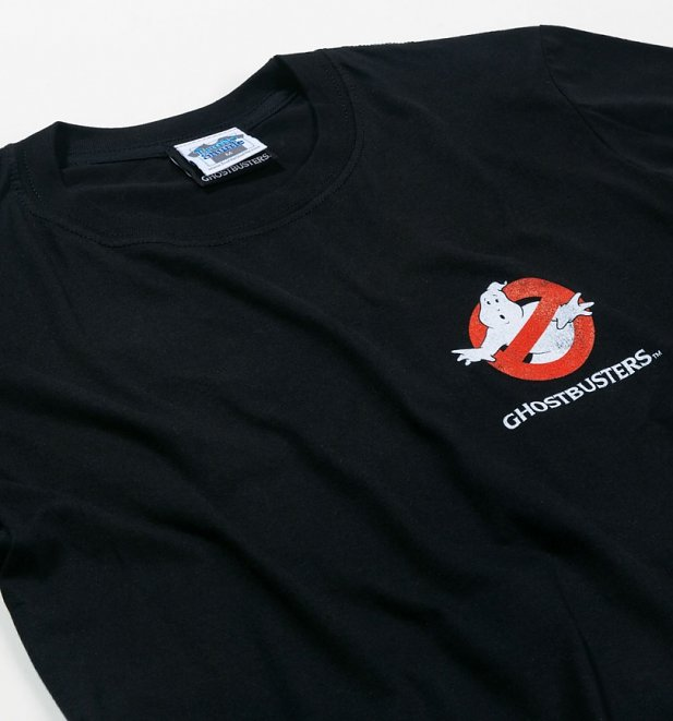 Men's Ghostbusters Who Ya Gonna Call Back Print Black T-Shirt