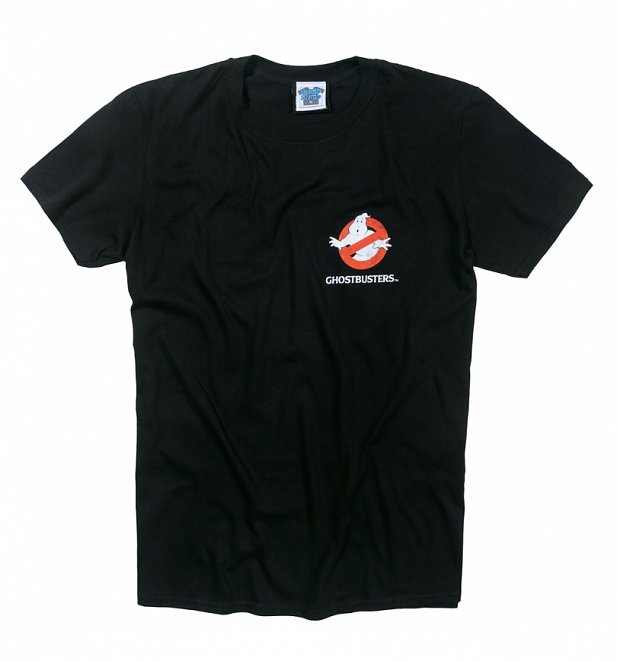 Men's Ghostbusters Who Ya Gonna Call Black T-Shirt