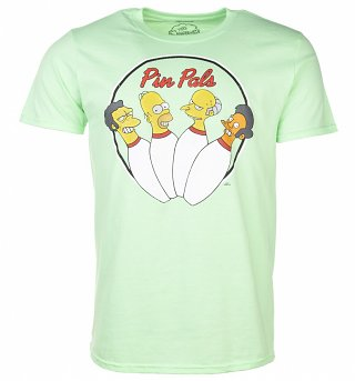 Men's Green Simpsons Pin Pals T-Shirt