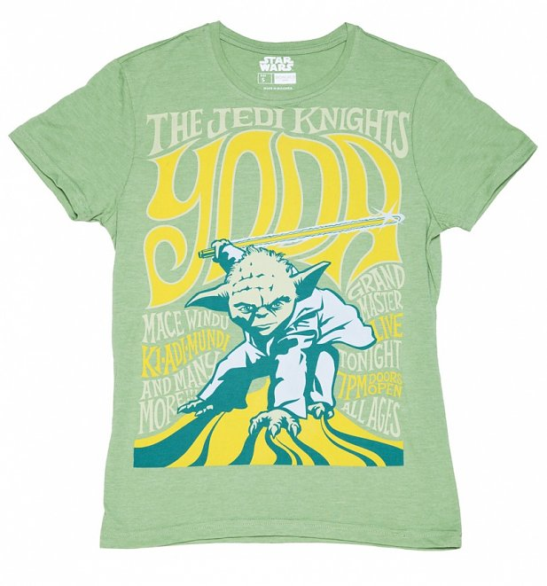 Men's Green Star Wars Yoda The Jedi Knight T-Shirt