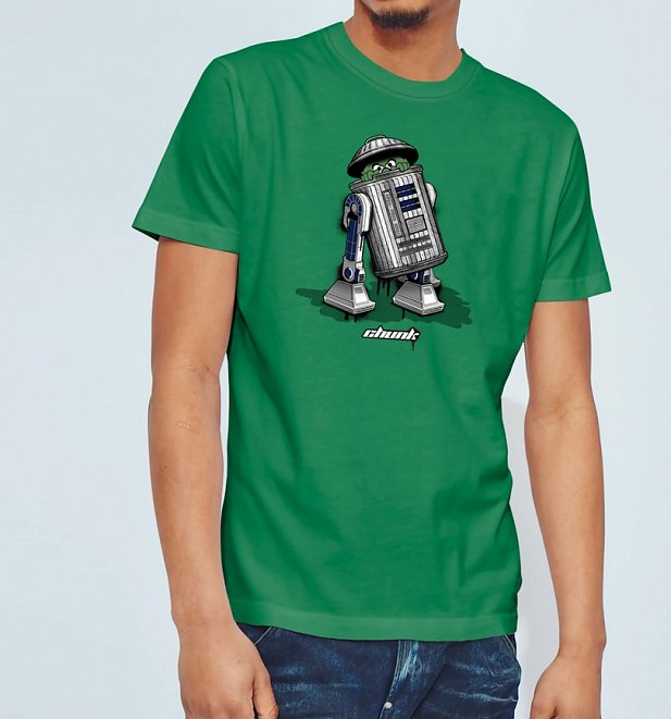 Men's Green Trash Can Droid T-Shirt from Chunk