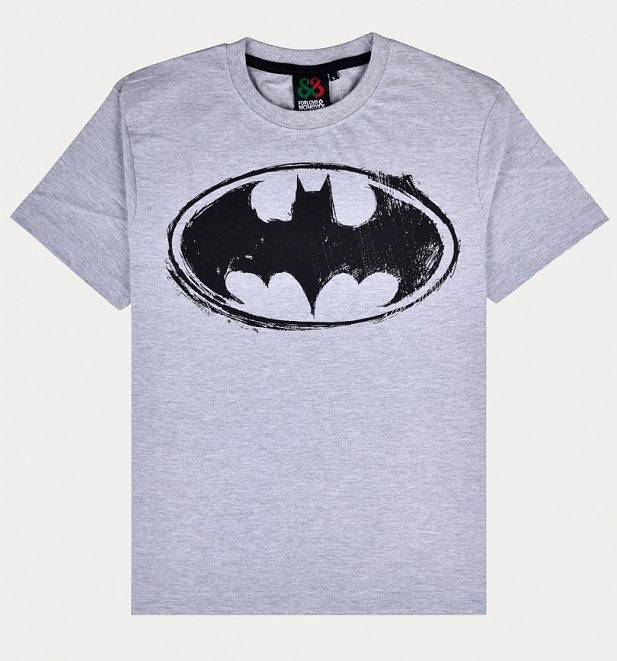 Men's Grey Batman Logo T-Shirt from For Love & Money