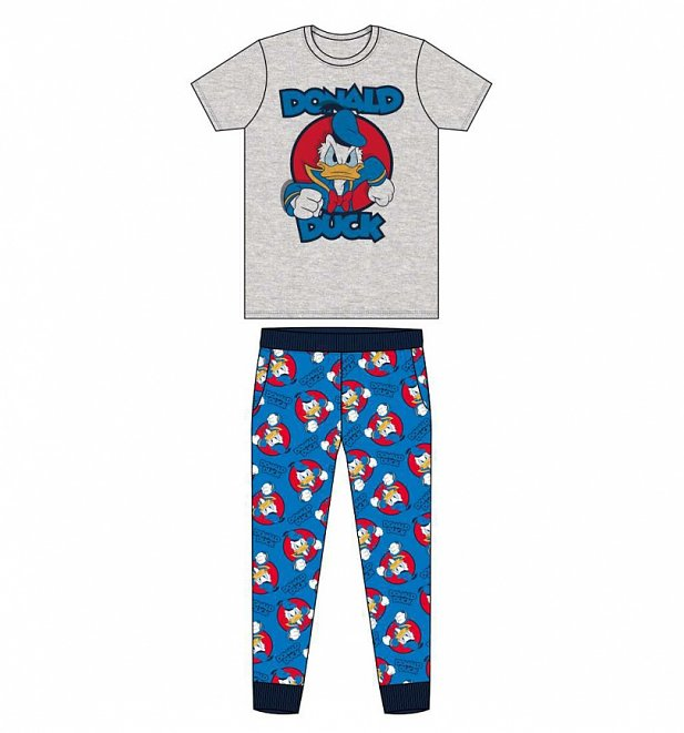 Men's Grey Donald Duck Pyjamas