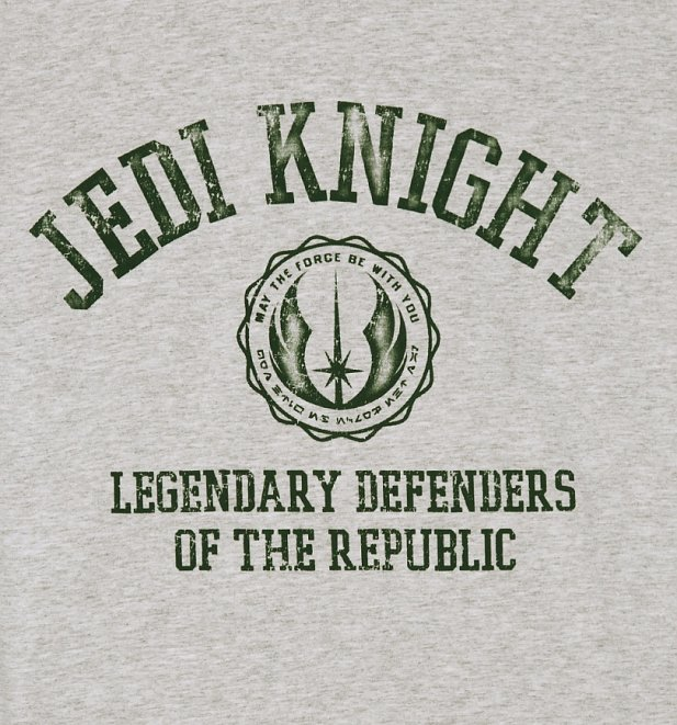 Men's Grey Marl Jedi Knight Star Wars T-Shirt