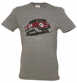 Men's Grey Marl Mini Low Rider T-Shirt from Chunk