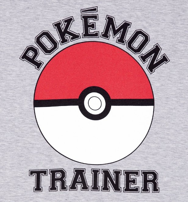 Men's Grey Marl Pokemon Trainer T-Shirt