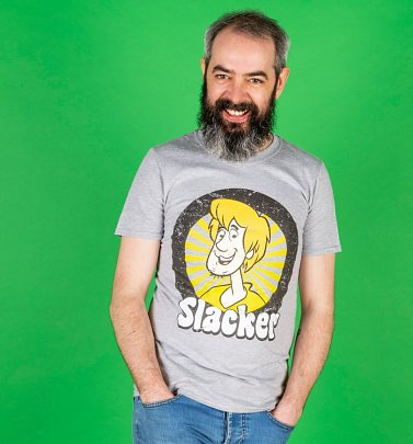 Men's Grey Marl Scooby-Doo Shaggy Slacker T-Shirt