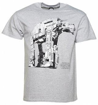 Men's Grey Marl Star Wars VIII The Last Jedi Gorilla Walker T-Shirt