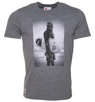 Men's Grey Marl Star Wars Wookiee Surfer T-Shirt from Chunk