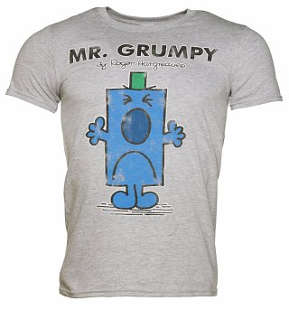 Men's Grey Mr Grumpy T-Shirt