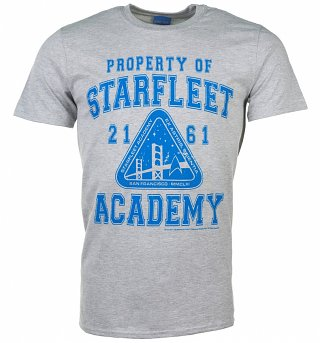 Men's Grey Star Trek Property Of Starfleet T-Shirt