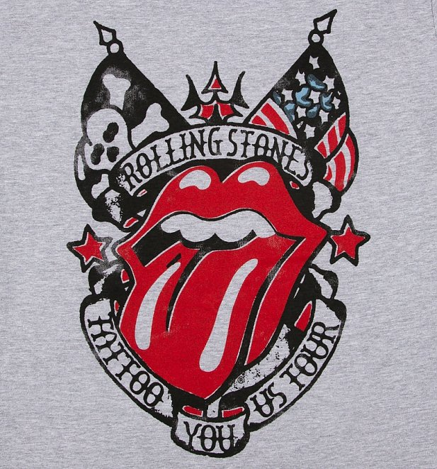 Men's Grey The Rolling Stones Tattoo You US Tour T-Shirt