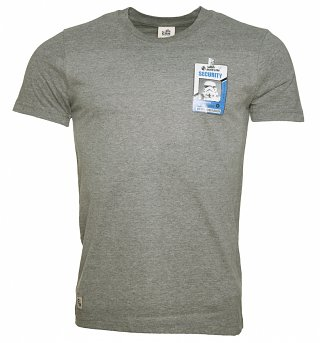 Men's Grey Trooper Security Star Wars T-Shirt from Chunk