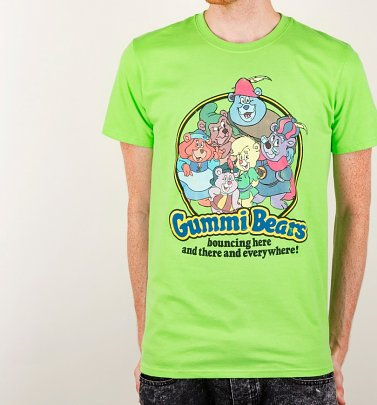 Men's Gummi Bears Green T-Shirt