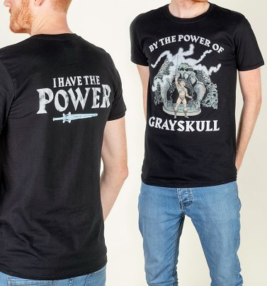 AWAITING APPROVAL PPS SENT 24/9 Men's He-Man Power Of Grayskull Black T-Shirt