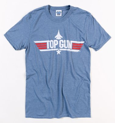 Men's Heather Blue Top Gun Maverick T-Shirt