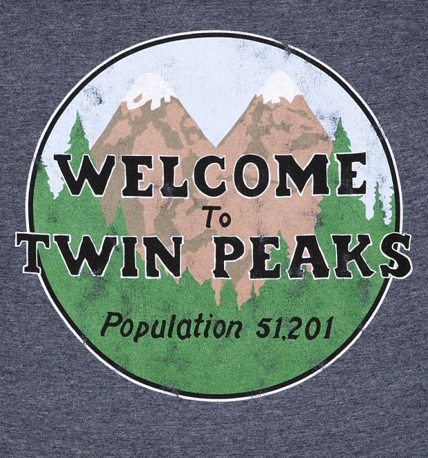 Men's Heather Navy Welcome to Twin Peaks Inspired T-Shirt