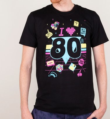 Men's I Heart 80s Black T-Shirt