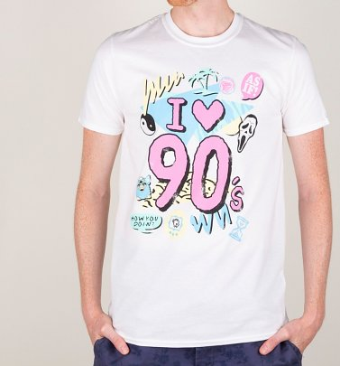 Men's I Heart 90s White T-Shirt