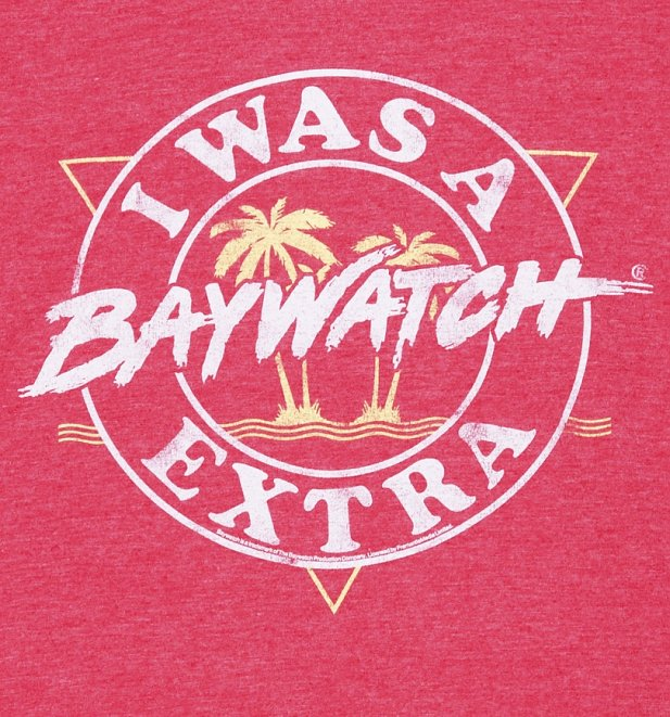 Men's I Was A Baywatch Extra Ringer T-Shirt