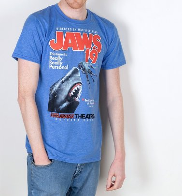 Men's Jaws 19 Movie Poster Heather Royal T-Shirt