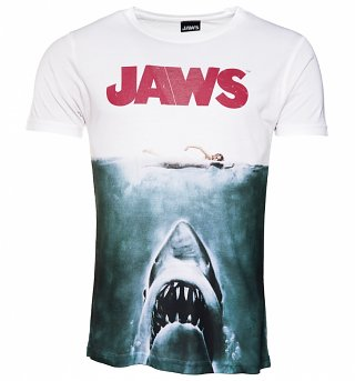 Men's Jaws Movie Poster Sublimation Print T-Shirt