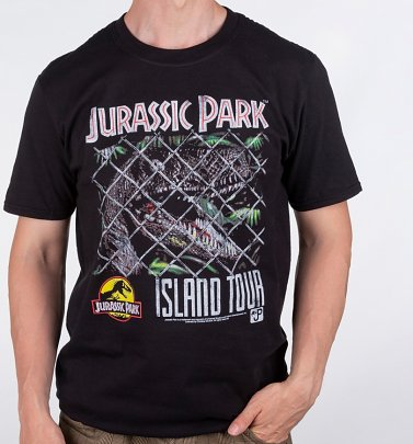 Men's Jurassic Park Island Tour Black T-Shirt