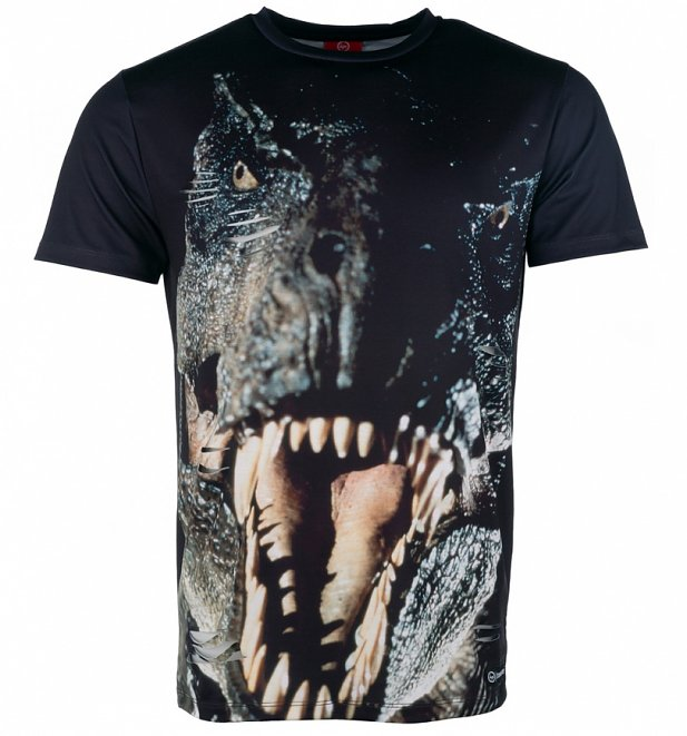 Men's Jurassic Park T-Rex Distressed Sublimation Print T-Shirt from Hype