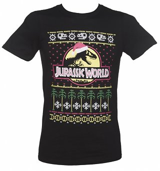 Men's Jurassic World Fair Isle Christmas T-Shirt