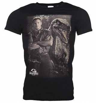 Men's Jurassic World Owen and Raptor T-Shirt