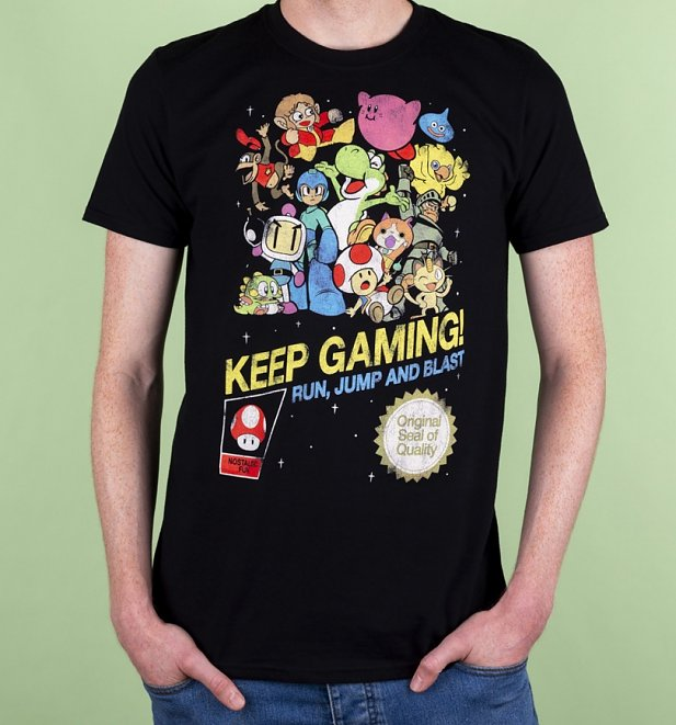 Men's Keep Gaming Black T-Shirt