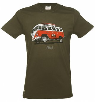 Men's Khaki Camper Low Rider T-Shirt from Chunk