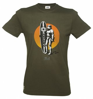 Men's Khaki Star Wars Surf Trooper T-Shirt from Chunk