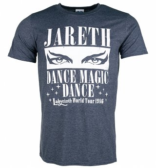 Men's Labyrinth Dance Magic Dance World Tour Heather Navy T-Shirt