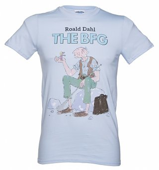 Men's Light Blue Roald Dahl The BFG T-Shirt