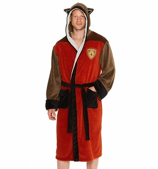 Men's Marvel Comics Guardians Of The Galaxy Rocket Raccoon Hooded Dressing Gown