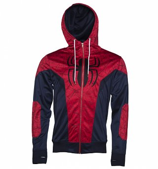 Men's Marvel Comics Spider-Man Costume Hoodie Jacket