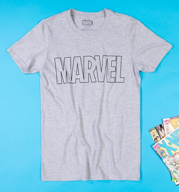 Men's Marvel Outline Logo Pyjamas