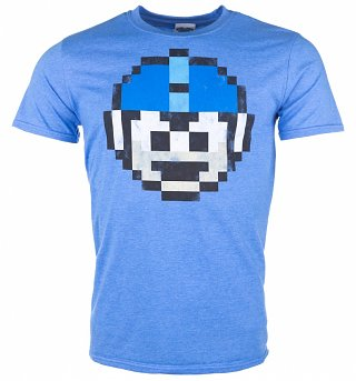 Men's Mega Man 1 Up Heather Royal T-Shirt