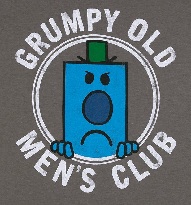 Men's Mr Men Grumpy Old Men's Club Charcoal T-Shirt