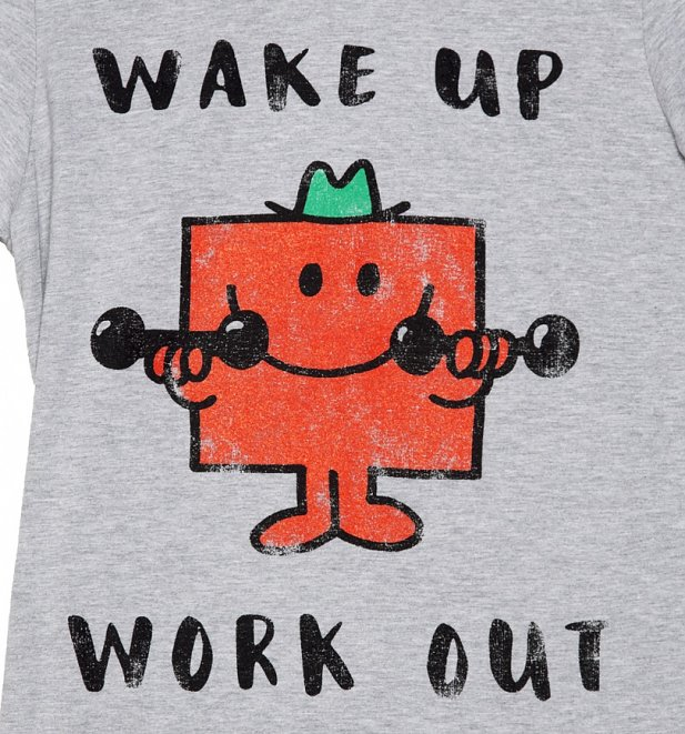 Men's Mr Strong Wake Up Work Out Mr Men T-Shirt