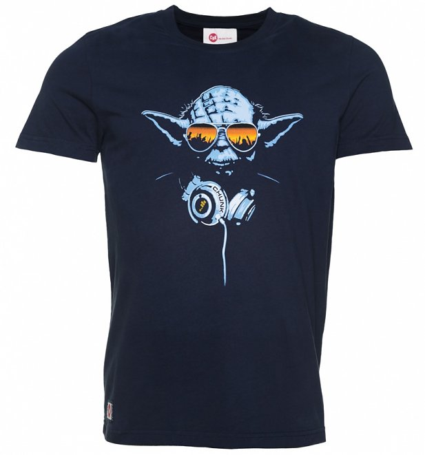 Men's Navy DJ Yoda Star Wars T-Shirt from Chunk